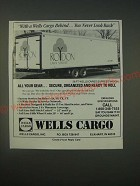 1989 Wells Cargo 28Ft. Express Wagon Ad - With a Wells Cargo Behind