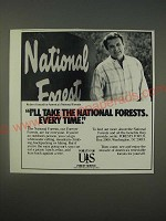 1989 U.S. Forest Service with Robert Conrad Ad - I'll take the national