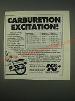 1989 K&N Intake Performance Kit Ad - Carburetion