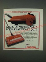 1989 Eureka Rally Power Team Model 3970 Vacuum Cleaner Ad - 12 lbs. of muscle