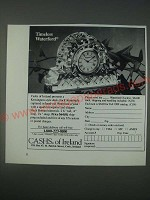 1989 Cashs of Ireland Waterford Clock Ad - Timeless Waterford