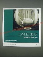 1989 Landes Silver Maestri Collection Ad