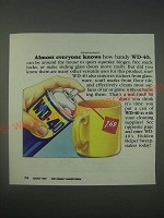 1989 WD-40 Oil Ad - Almost everyone knows how handy WD-40 can be around