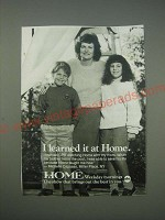 1989 ABC Home TV Show Ad - I learned it at Home