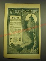 1902 St. Louis Veiled Prophet Ad - The Veiled Prophet will Appear