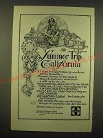 1902 Santa Fe Railroad Ad - Summer Trip California