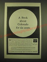 1902 Burlington Route Railroad Ad - A book about Colorado for six cents