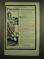 1902 The Aeolian Pianola Ad - The Standard Piano-player Pianola Piano-Mastery