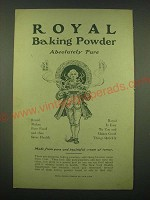 1902 Royal Baking Powder Ad - Royal Baking Powder Absolutely Pure