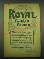 1902 Royal Baking Powder Ad - Royal Baking Powder makes the finest, lightest