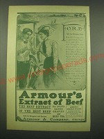 1902 Armour's Extract of Beef Ad - Fore! Golf is a Strenuous Game