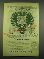 1902 Armour's Extract of Beef Ad - Its flavor finds royal favor
