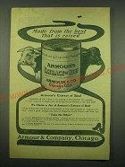 1902 Armour's Extract of Beef Ad - Made from the best that is raised