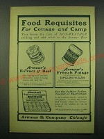 1902 Armour's Ad - Extract of Beef, French Potage and Beef Extract