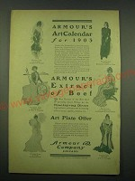 1902 Armour & Company Ad - art by Harrison Fisher, Walter Appleton Clark