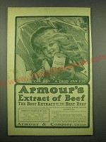 1902 Armour's Extract of Beef Ad - A child can buy a child can use