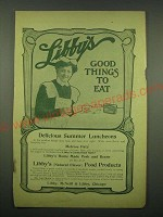 1902 Libby's Melrose Pate Ad - Delicious Summer Luncheons