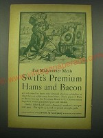 1902 Swift's Premium Hams and Bacon Ad - For midsummer meals