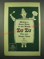 1902 Nabisco Zu Zu Ginger Snaps Ad - Making a great noise in the world Zu Zu