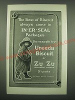 1902 Nabisco Uneeda Biscuit and Zu Zu Ginger Snaps Ad - The best of biscuit