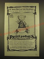 1902 Pettijohn's Flaked Breakfast Food Ad - Sit down hard on cold breakfasts
