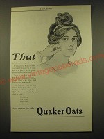 1902 Quaker Oats Ad - That isn't the results of drugs or drug-food