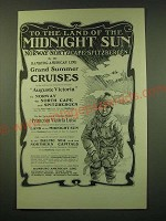 1902 Hamburg-American Line Ad - To the land of the Midnight sun