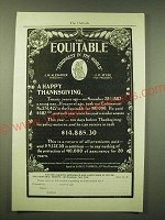 1902 Equitable Insurance Ad - A happy thanksgiving