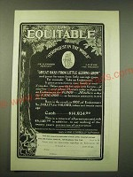 1902 Equitable Insurance Ad - Great oaks from little acorns grow