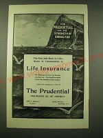 1902 Prudential Insurance Ad - The only safe rock in life's ocean