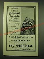 1902 Prudential Insurance Ad - The Prudential has the strength of Gibraltar