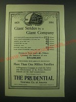 1902 Prudential Insurance Ad - Giant strides by a Giant company