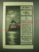1902 Prudential Insurance Ad - An ideal investment the 5% Gold bond policy