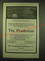 1902 Prudential Insurance Ad - The crimson moon, uprising from the sea