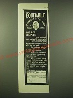 1902 Equitable Insurance Ad - The Law Compels
