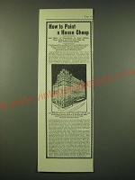 1902 Cararra Paint Ad - Waldorf-Astoria - How to paint a house cheap
