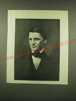 1902 Magazine Print of a painting of Ralph Waldo Emerson by Alfred E. Smith
