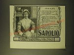 1902 Sapolio Soap Ad - 1600-1900 The Puritan maiden of long ago