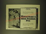 1902 Waterman's Ideal Fountain Pen Ad - My Ladys Correspondence