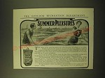 1902 Lake Shore & Michigan Southern Railway Ad - Summer Pleasures