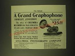 1902 Columbia Phonograph Graphophone Ad - A Grand Graphophone Announcement