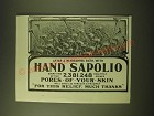 1902 Hand Sapolio Soap Ad - After a refreshing bath with Hand Sapoliio