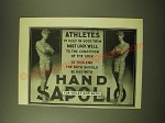 1902 Hand Sapolio Soap Ad - Athletes to keep in good trim must look well