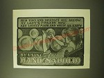 1902 Hand Sapolio Soap Ad - her tins and brasses all aglow my lady's fingers