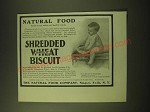 1902 Natural Food Shredded Wheat Biscuit Ad - Natural food builds strong bodies