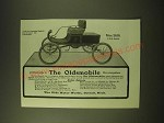 1902 Oldsmobile Car Ad - All Roads alike to the Oldsmobile Runs Everywhere