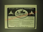 1902 oldsmobile Car Ad - All roads alike to the Oldsmobile