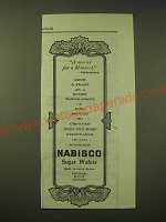 1902 National Biscuit Company Nabisco Sugar Wafers Ad - A morsel for a Monarch