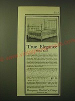 1902 Montgomery Ward & Co. R56 Brass Bed Ad - True elegance within reach