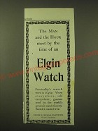1902 Elgin Watch Ad - The man and the hour meet by the time of an Elgin Watch